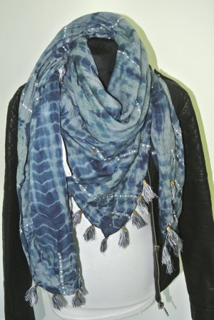 Zara Pañoleta azul-blanco