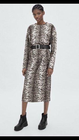 Neu mit Etikett Zara Kleid Midikleid Tiger gr. S 36-38