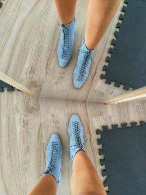 Office Ankle Boots azure-cornflower blue