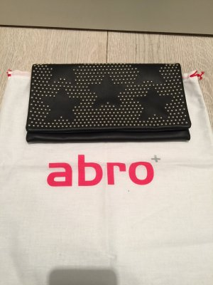 abro Clutch black leather