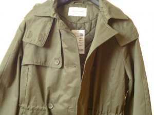 Neu mit Preisschild: Herbstparka/Trenchcoat mit Steppfutter, khaki, Gr. 36-38
