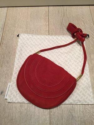 NEU mit Verpackung und Zertifikat - Trendy und für 2018 als must-have angesagte Handtasche aus Nubukleder von Diane von Fürstenberg