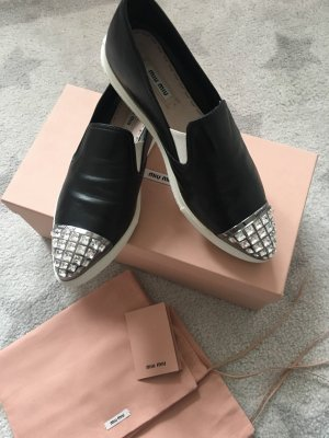 Miu Miu Slip-on Sneakers black