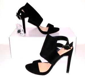 NEU - modische High Heels - Riemchen Sandalette in schwarz - von ZARA Gr. 38