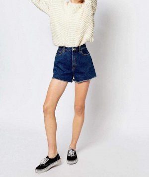 Neu! Monki Jeans Shorts High Waist Blogger Cosy Trend Mom W28