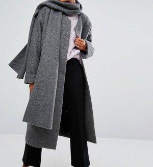 Neu! Monki Oversize Schal Mantel Cosy Clean Chic Gr. S