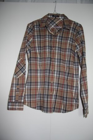 NEU More&More Karierte Bluse Hemd klassisch camel grau weiß weinrot langarm