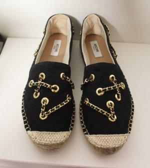 NEU Moschino Couture Espadrilles Chain Design Ketten Flats Gr 40