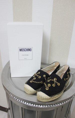 NEU Moschino Couture Espadrilles gesteppt im Ketten Look