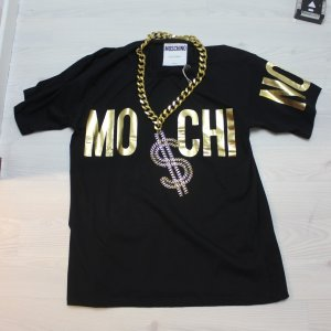 NEU MOSCHINO COUTURE T-SHIRT MIT DOLLAR KETTE TOP GR L