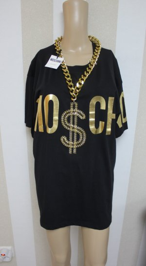 NEU MOSCHINO COUTURE T-SHIRT MIT $ KETTE STATEMENT GR L