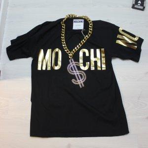 NEU MOSCHINO COUTURE T-Shirt mit schwerer $ Kette Statement Gr L