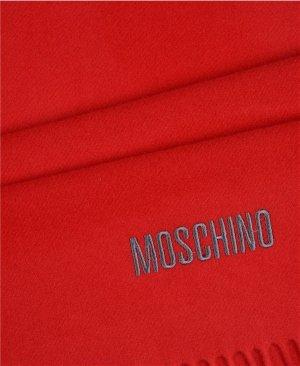 Neu! Moschino Schal Rot Merino Wolle Winter