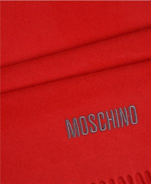 Neu! Moschino Schal Rot Merino Wolle Winter Blogger