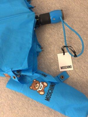 Neu Moschino Toy Bear Regenschirm blau
