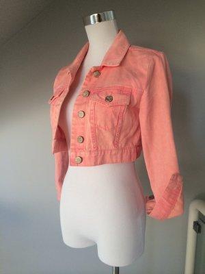 NEU Moto Jeans-Kurzjacke im sommerlichen aprikot