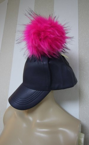 Cappellino blu scuro-magenta