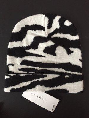 NEU - Mütze im schwarz/weißen Zebrastreifen-Look von Sandro Paris / NP 55,00 EUR