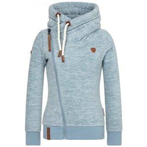 Naketano Fleece Jackets azure mixture fibre