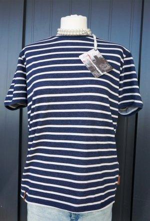 Neu Naketano T-Shirt, gestreift