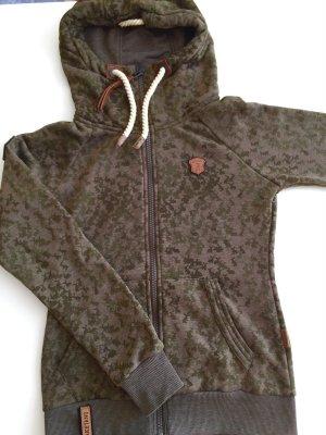 Naketano Sweat Jacket khaki cotton