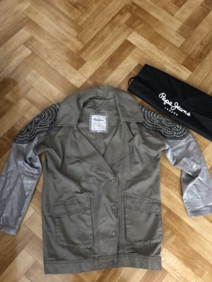 Andy Warhol by Pepe Jeans London Blouson gris vert-vert olive fibre synthétique
