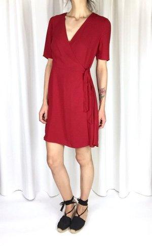 Neu! New Look Wickelkleid Wrap Dress Rot French Cosy Blogger Trend Gr. 36