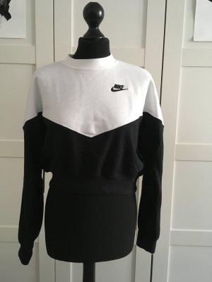 Nike T-shirt court blanc-noir tissu mixte