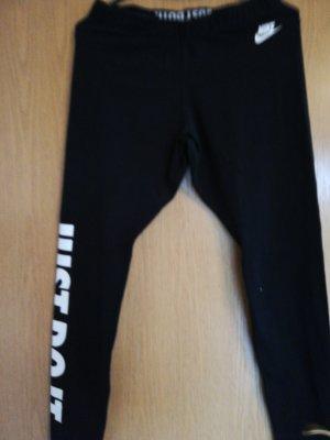 Nike Sportbroek wit-zwart