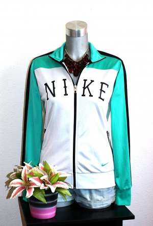 Neu Nike Sportjacke gr.38/40 Grün Weiß Schwarz