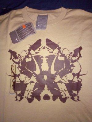 NEU NIKE T-Shirt Homme S Braun Cream Baumwolle