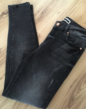 Neu Noisy May Boyfriend Skinny Slim Fit Jeans XS 32 34 Biker Denim Used Look