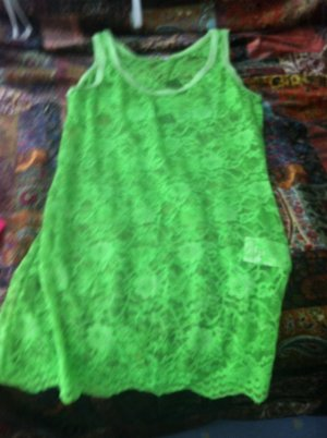 Northland Lace Top neon green viscose