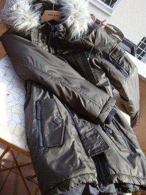 NEU NP 119,99€ PARKA MANTEL JACKE WINTERJACKE WINTERMANTEL Gr. S/M/L 36/38/40, OVERSIZE-STYLE Gekennzeichnet mit Grösse 40 oliv/khaki changierende Farben