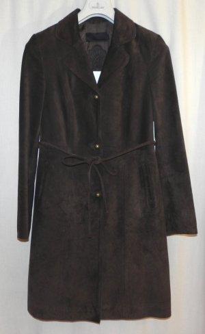Manteau en cuir brun cuir