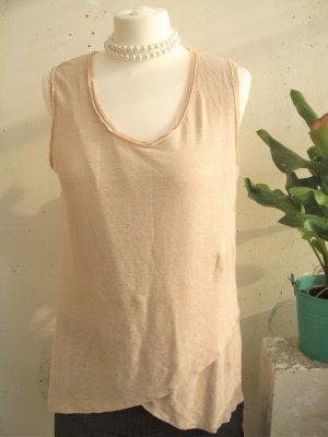 *NEU* (NP ca. 50 Euro) Hochwertiges Top, Blaumax, nude / sand, Leinen