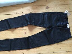 NEU! NP149€ Diesel PADDIH Jeans Röhrenjeans W25 schwarz in wetlook