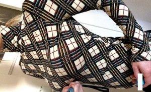 Jean Paul Gaultier Blusa de cuello alto multicolor