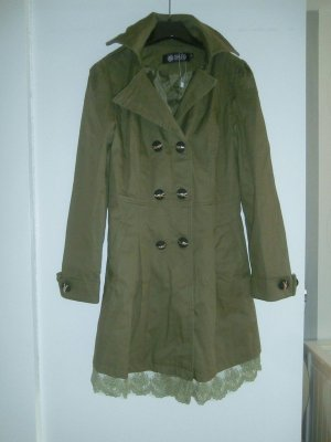 Oasap Short Coat khaki-green grey