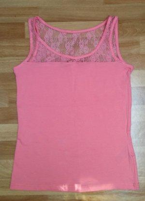 NEU Oberteil/ Top in rosa mit Spitze, 36/38