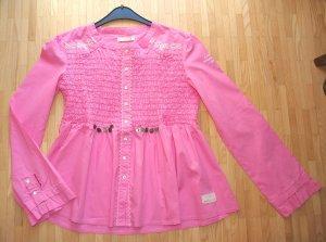 Odd Molly Ruche blouse roze Katoen