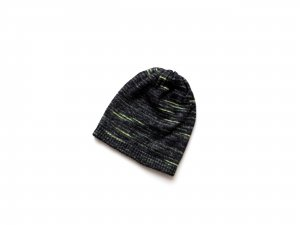 neu ohne Etikett ASOS Mütze Beanie grün schwarz grau ombre metallic