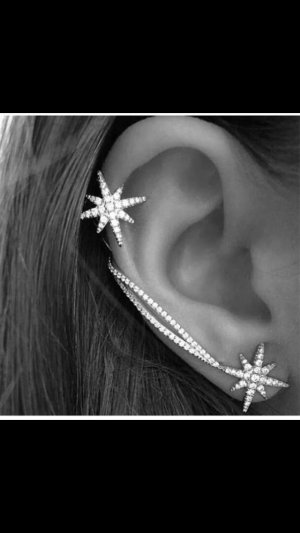 Neu! Ohrringe Ear-Cuff Ohrklemme Ohrstecker