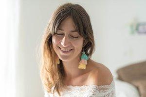 NEU Ohrringe Tassel Pompom mint grün rosa und gelb blogger