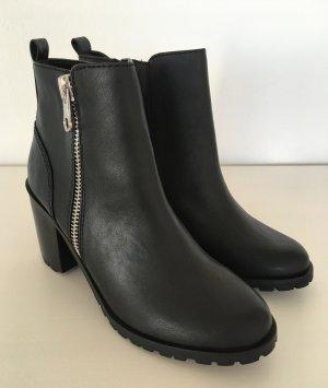NEU Only Ankle Boots 39 Schwarz Stiefeletten High Heels Chelsea Stiefel Booties