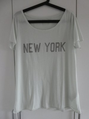 NEU – Only  – T-Shirt, mint mit grauem Aufdruck