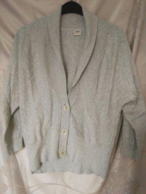 Esprit Giacca in maglia grigio chiaro Cotone