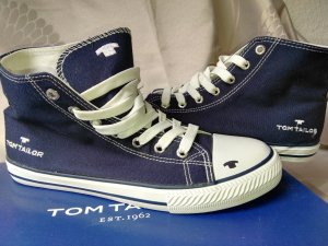Neu! Orginal TOM TAILOR HIGH-TOP SNEAKER in blau, Gr.39