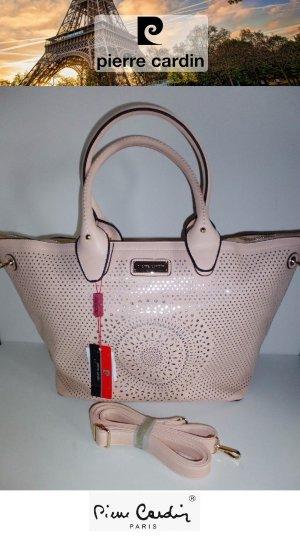 NEU Orig. Design PIERRE CARDIN® PARIS HANDTASCHE SHOPPER Rosé Silber