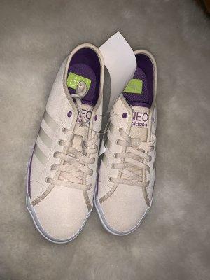 Adidas NEO Basket slip-on blanc-violet foncé
